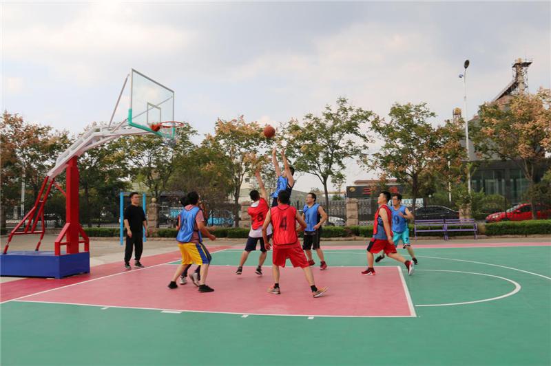 山东三维控股集团开展职工篮球赛活动
